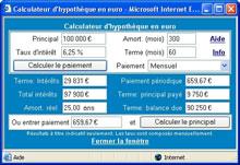 calculateurs en euro la suite calcul de prêt en euro
